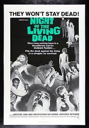 Night Of The Living Dead ✯ Cinemasterpieces Movie Poster Zombie Horror 1968