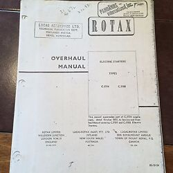 Rotax Electric Starter C.5104 And C.5108 Overhaul Manual