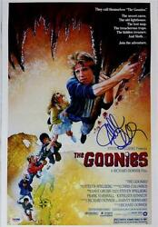 The Goonies Director Richard Donner Signed 11x17 Canvas Movie Poster Psa/dna Coa