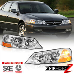 For 02 03 Acura Tl Type-s [factory Xenon Model] Front Left Right Headlight Lamp