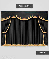 Saaria Ht-4 School Stage Curtains Home Movie Theater Velvet Drapery 14and039w X 8and039h