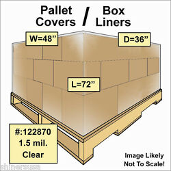 Pallet Covers / Bin Box Gaylord Liners 48x36x72 Clear 1.5 Mil Roll/110 122870