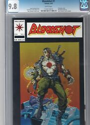 BLOODSHOT #1 CGC 9.8 WHITE PAGES! BWS CHROMIUM COVER! POST UNITY!