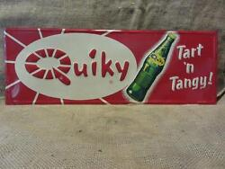Rare Vintage Quiky Cola Embossed Sign Stout Antique Beverage Drink 9626
