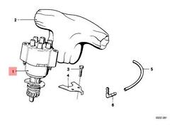 Genuine BMW E21 Sedan Ignition Distributor OEM 12111274683