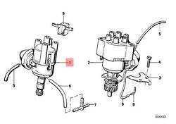 Genuine BMW E28 E30 Coupe Sedan Ignition Distributor OEM 12111286076