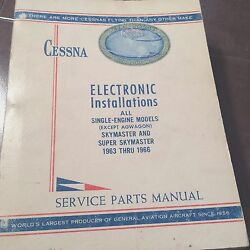 Factory Wiring Book 1963-1966 Cessna All Single Engine And Skymasters