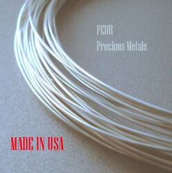 25 Ft Pure .999 Silver Round Wire,  18 20 22 24 Gauge,  Made In Usa