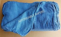 2000 New Shop Rags / Industrial Cleaning Towels Blue 14x14 Affordable Wipers