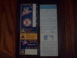 Baseball Cards-tickets-2 Tickets For The Series That Never Happened-red Sox