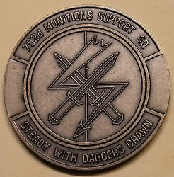 752nd Munitions Support Sq Nuclear Muns Netherlands Air Force Challenge Coin