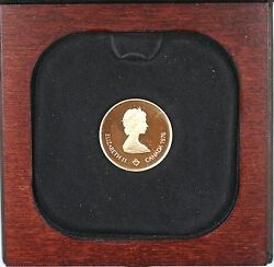 1976 Canada Olympic 100 1/2 Oz Gold Proof Commemorative Coin As Issued Ww