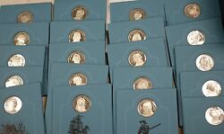 1971 Patriots Hall Fame American Revolution 925 Silver Proof 20 Medals Vol. 1and2
