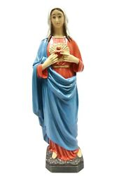 25 Immaculate Heart Of Mary Madonna Statue Sculpture Catholic Religious Italy