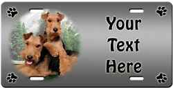 Welsh Terrier Personalized License Plate