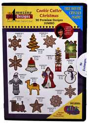 Amazing Designs Cookie Cutter Christmas Embroidery Cd, Adp-52j