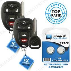 2 Replacement For Chevy Cobalt Malibu Remote Key Fob 5b Set