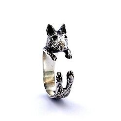 Bull Terrier Ring Sterling Silver Ring Cute Animal Ring Handmade Dog Jewelry