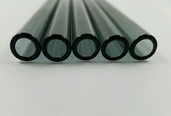 8 Piece 8 Pyrex Glass Blowing Tubing 12mm Od 2mm Thick Wall Black Tubes