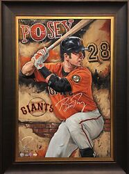 Buster Posey, Sf Giants Star, Auto Limited Edition By Artist Justyn Farano
