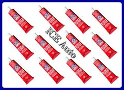 12 Pack - Permatex 81160 High-temp Red Rtv Silicone Gasket Maker 3oz Tubes