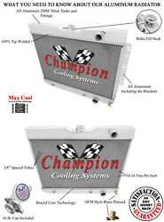 1959 1960 1961 1962 Chevy Bel-air Champion Cooling Systems Cc281 Wr Radiator