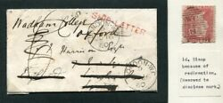 Gb Ship Letter London Rare Handstamp Ex Robertson Collection 1860