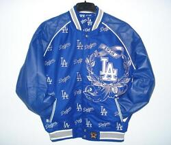 Los Angeles Dodgers Wool Body And Leather Sleeves Reversible Jacket Jh Design Xxl