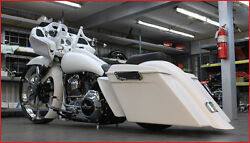 Harley Stretched Rear Fender And Whip Style Stretched Saddlebags 2009-2013