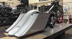 Harley Stretched Extended Saddle Bags and Rear Fender Tail Dragger 2014-2018