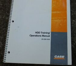 Case Hdd Horizontal Directional Drill Owner Operator Maintenance Manual Book Use