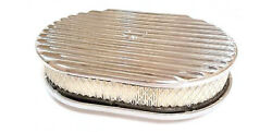 12 Oval Full Finned Polished Aluminum Air Cleaner Nostalgia Factory Seconds