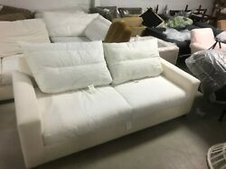 Pottery Barn Pb Comfort Square Arm Sofa Couch Knife Edge Cushions Poly Regular