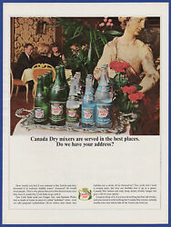 Vintage 1964 Canada Dry Ginger Ale Club Soda Quinine Water Mixer Print Ad 1960and039s