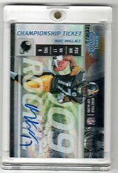 2009 Playoff Contenders Mike Wallace Auto Rc True 1/1 Rare Championship Rookie