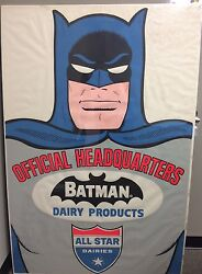 VINTAGE 1966 ALL STAR DAIRIES PROMOTIONAL BATMAN STORE POSTER! 40