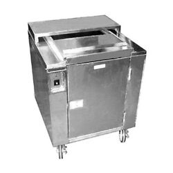 Carter-Hoffmann CD27 Heated Dish Storage Cart w Dish Dividers and Rotary Design