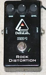RARE Deltalab RD-1 Rock Distortion Guitar Effects Pedal.Hard. Soft. Shred. Solo!