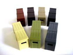 Brickarms Ammo/weapons Crate For Custom Minifigures -pick Your Color-