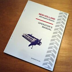 New Holland 488 Haybine Mower Conditioner Operator's Owners Book Guide Manual Nh