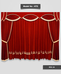 Saaria Home Theater Curtains Stage Event Hall Drapes 20and039w X 8and039h Custom Colors