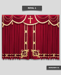 Saaria Church Event Hall Club Stage Home Theater Curtains 22and039w X 8and039h Royal-1