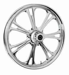 Rc Components Chrome Epic 21 Front Wheel And Tire Harley 08-17 Flh/t W/ Abs