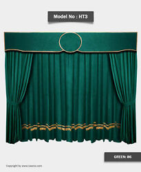 Saaria Home Stage Event Backdrop Movie Cinema Velvet Curtains 22and039w X 8and039h Ht - 3