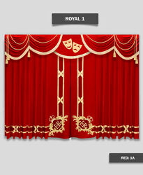 Saaria Happy & Sad Event Hall Club Stage Home Decor Curtains 12'W x 8'H Royal-1