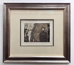 Edgar Degas Meeting Madame From La Famille Cardinal Collection - Custom Framed