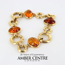 Italian Made Unique German Baltic Amber Bracelet In 18ct Gold -gbr105 Rrpandpound3900