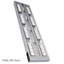 Hatco UGAHL-72D3 High Wattage Infrared Heat Lamp with Lights and 3