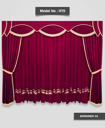 Saaria Home Theater Movie Hall Drapes Event Stage Decor Curtains 8'W x 8'H HT-5