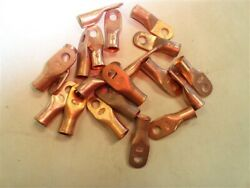 Copper Terminal 2 Gauge Wire Connector 5/16 Set Of 20 Marine Boat
